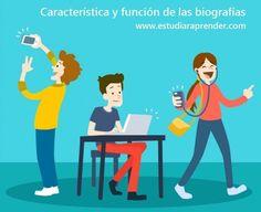Características y función de las biografías, información para estudiantes de secundaria en México.
