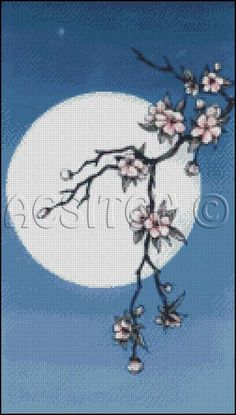 CHERRY BLOSSOM cross stitch pattern No.200. $4.99, via Etsy.
