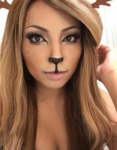 Deer makeup for Halloween