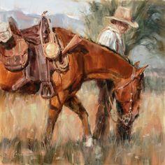 Lindsey Bittner Graham, Long Way Home, oil, 24 x 24.