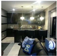 Basement idea. I love how dark this is. I want our basement dark!