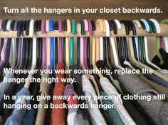 So incredibly true - declutter, declutter, declutter!  Nothing worse than having too many clothes and knowing someone who has none can wear them..