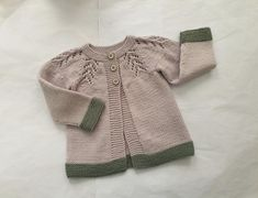 Knitted merino wool cardigan for baby about 12 months, hand knit beige & green sweater, girl's cardigan with lace, handmade unisex knitwear Baby Cardigan, Wool Cardigan, Baby Girl Sweaters, Olive Green Color, Green Sweater, Baby Knitting, 12 Months, Merino Wool, Knitwear