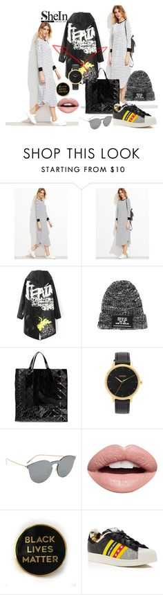 """""""Two Sides"""" by chelsofly ❤ liked on Polyvore featuring Bao Bao by Issey Miyake, Nixon, Illesteva, Nevermind, adidas, Sheinside, contestentry and shein"""