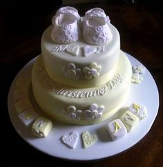 baptism cakes for twins | Christening cake for twin girls xsx