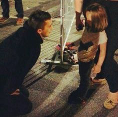 Tyler with a little girl