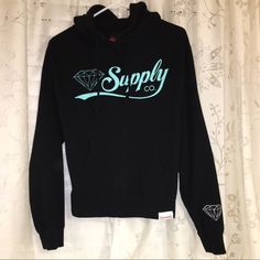 Diamond sweater Black and Tiffany blue hoodie. It's a men's medium but it fit me (women's size small) well Diamond supply co Sweaters