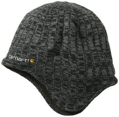 Carhartt Men's Akron Hat, One Size winter camping clothes that make you stay warm with proper winter camping clothing