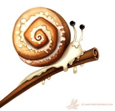 Daily Paint #1010. Cinnamon Snail by Cryptid-Creations   Time-lapse, high-res and WIP sketches of my art available on Patreon (:
