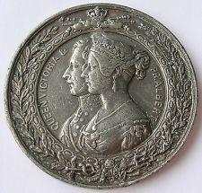 1851 GREAT BRITAIN LONDON GREAT EXHIBITION MEDAL QUEEN VICTORIA & PRINCE ALBERT