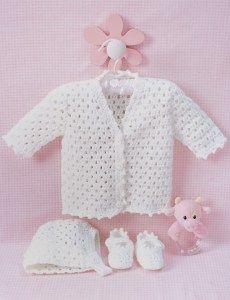 Lacey Crochet Set Free Pattern, baby, jacket, hat, booties, #haken, gratis patroon (Engels), baby, jasje, muts, sloffen, kraamcadeau, haakpatroon