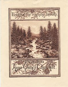 By Arnold A. Robert, Boston engraver. Bookplate for Anna Quincy Churchill.