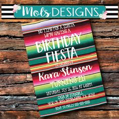 Fiesta invitation fiesta invite first fiesta birthday holy fiesta birthday party siesta uno 1st 21 30 40 50 serape blanket bridal surprise mexican wedding filmwisefo