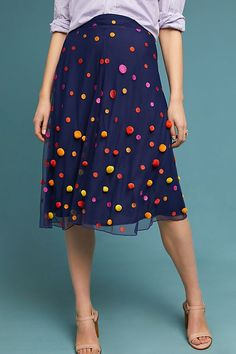 Slide View: 3: Dotted Tulle Skirt