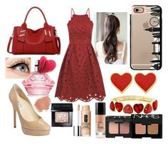 """""""Valentines Day Look #3"""" by laughlikecrazy on Polyvore featuring Luminess Air, Chi Chi, Jimmy Choo, Casetify, Liz Claiborne, Clinique, Bobbi Brown Cosmetics, NARS Cosmetics, women's clothing and women"""