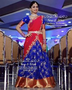 Amazing designer lehengas, kids traditional and indowestren party wears, gowns, customized designs and much more at Call/WhatsApp for Purchase Inqury : Lehenga Saree Design, Half Saree Lehenga, Pattu Saree Blouse Designs, Half Saree Designs, Lehenga Designs, Saree Dress, Kids Lehenga, Lehenga Blouse, Dress Indian Style