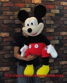 Mickey Mouse 35 inches PDF amigurumi crochet pattern by Chonticha, $12.99