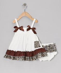 White Leopard Swing Dress & Bloomers - Infant & Toddler | Daily deals for moms, babies and kids