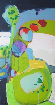 "Claire Desjardins; Acrylic, 2012, Painting ""Call Me"". Love these colors."