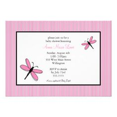 Dragonfly baby shower invitations in pink green shower invitations dragonfly baby shower invitations in pink green shower invitations dragonflies and babies filmwisefo
