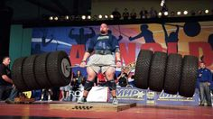 """10 Strongest Humans to Ever Walk the Earth --  10. BRIAN SHAW – STRONGMAN BORN: USA, 1982 HEIGHT: 6'8"""" WEIGHT: 435 LBS  He placed top three at the World's Strongest Man a total of five times. Shaw, a two-time WSM winner (2011, 2013), has posted bests of 972 pounds in the deadlift and 1,122 pounds in the Hummer tire deadlift in competition (with straps). In the gym, he's credited with squatting 825 pounds, benching 535 pounds, and deadlifting 985 pounds (with straps)."""