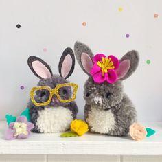 animaux en pompons lapins paques diy #decoration #Easter
