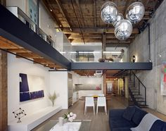 San Francisco warehouse turn loft.  Beautiful merger of old materials with super modern designs.