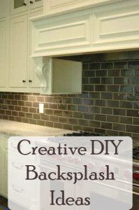 Inexpensive Backsplash Ideas our diy brick backsplash using vinyl floor tiles cut into mini