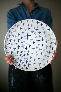 Large ceramic plate Cheese ceramic plate by ArtetManufacture