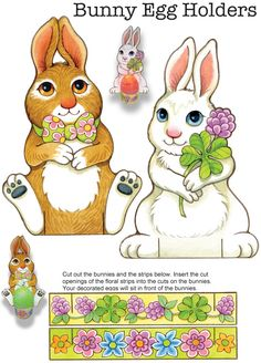 """Easy Easter Tabletop Crafts:  Ѽ """"Eggscellent"""" Cut & Make Decorations Ѽ Welcome to Dover Publications"""