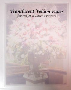 Clear Translucent Vellum Paper is made from 100% pure cellulose fiber, without the use of resins or other transparentizing agents. Crafted from premium translucent paper with cloudless fiber formation.