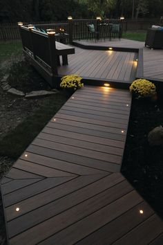 Get deck lighting ideas from professional deck installers. Find out where to install lights on your deck and how much it will cost. #deckdesigner