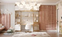 Kids bedroom designs - Children's room for a little Princess Soft wall panels and furniture will be made according to our author's sketches Krestovskiy de luxe Детская комната для мален Girl Room, Girls Bedroom, Bedroom Decor, Luxury Kids Bedroom, Bedroom Ideas, Kids Bedroom Designs, Kids Room Design, Room Interior Design, Luxurious Bedrooms