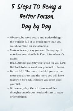 Becoming A Better Person Day By Day | Wellbeing