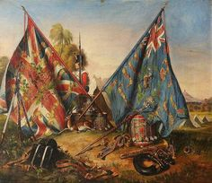 British; 6th (Royal 1st Warwickshire) Regiment of Foot, Colours, 1843 by Daniel Cunliffe