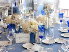 white+and+cobalt+blue+wedding+reception | Cobalt Blue And Black Wedding Theme And black wedding theme.