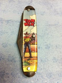 Vintage Western Comics | ... knife. Vintage Knife. TV Cowboy pocket knife. Novelty Comic book knife