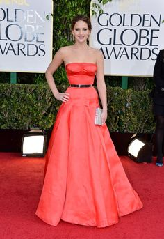 This Christian Dior Couture gown is one of those looks that we're sure will go down in Golden Globes histor...