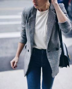 60 Casual Blazer Outfit for Women You Must Have casual blazer outfits - Casual Outfit Blazer Outfits Casual, Blazer Outfits For Women, Blazer Fashion, Blazers For Women, Fall Outfits, Fashion Outfits, Dress Outfits, Casual Blazer Women, Ladies Blazers