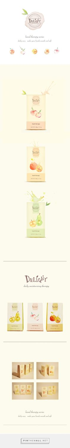 DELIGHT hand cream packaging by Beny Y. #SFields99 #packaging #design