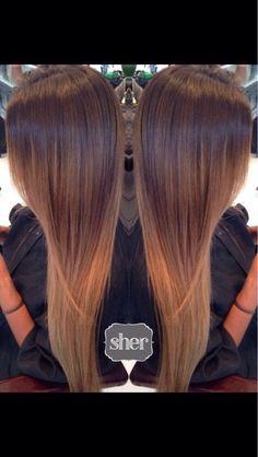 Sher Mizushima - La Jolla, CA, United States. Balayage ombré on straight hair:
