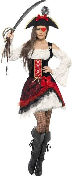 Looking for Glamorous Lady Pirate Costume? Get it from our wholesale Pirate Fancy Dress range today. Visits Smiffy's wholesale for all your Adult Fancy Dress needs today. Red Costume, Costume Shop, Costume Dress, Halloween Costumes, Pirate Fancy Dress, Adult Fancy Dress, Pirate Woman, Lady Pirate, Female Pirate Costume