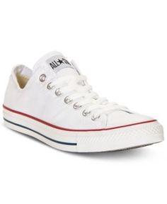 Converse Mens Chuck Taylor Low Top Sneakers from Finish Line - White 11.5