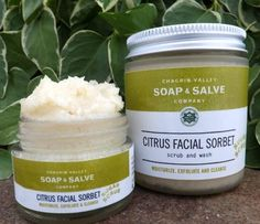 Facial Sugar Scrub: Nourishing oils whipped with fine grain organic cane sugar and a touch of our all natural soap creates a natural facial sugar scrub that exfoliates dead skin cells, stimulates dull lifeless skin, and hydrates, while gently cleansing.