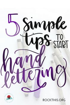 If you've ever wanted to learn hand lettering, check out these easy-to-follow tips to get you started. It even includes hand lettering practice sheets!