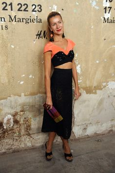 Natalie Joos at the H & M with Maison Martin Margiela launch party.