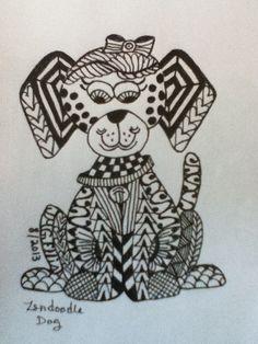My zen doodle dog (JMGEllis) http://www.pinterest.com/nanniejoyjmge/my-zendoodle-art-jmgellis/