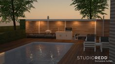Luxury outdoor wellness by StudioREDD  droomtuin, tuinontwerp, tuinarchitect, wellnesstuin, villatuin, garden design, landscaping, garden landscaping, modern garden, home architecture.