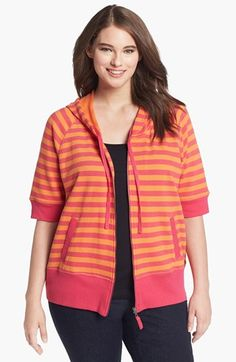 Sejour Stripe French Terry Hoodie   Nordstrom