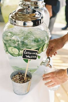 cucumber water | Adam Barnes #wedding